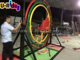 Double sport rond Powerball, gyroscope d'être humain de boucle de l'espace de l'amusement 3D
