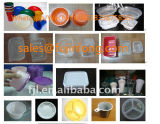 De Buena calidad de doble tornillo máquina extrusora de plástico para productos desechables