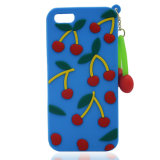 Moda Cherry Rubber DIY Silicone Phone Case para iPhone