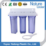 Filtre d'eau pur à la maison de 3 étapes avec le boîtier clair bleu