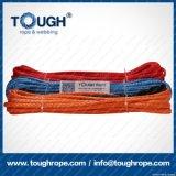 Fibra 100% resistente de Uhwmpe da corda da corda sintética do guincho Orange12.5mmx28m4X4