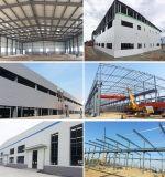 Edificio de construcción de tejado de acero ligero preparado con planes