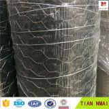 電流を通された/PVC上塗を施してある六角形の金網/金網の網