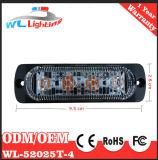 Röhrenblitz-Licht 12-24V des Bernstein-4 LED dünnes der Montierungs-4W