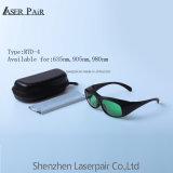 Caractéristique des lunettes de sécurité pour Laser 635nm/905nm/980nm la transmittance 37 % de hautes performances