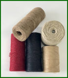 Filato tinto della fibra della iuta (il nero)