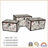 가정 가구 다이아몬드 패턴을%s 가진 나무로 되는 저장 선물 상자 나무로 되는 트렁크