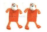 Squeakerのプラシ天猿の整形飼い犬のおもちゃが付いている狂気のプラシ天のおもちゃペットおもちゃ