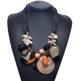 Moda Resina Shell Stone Artificial Declaración Choker Collar Joyería