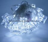 Lampada decorativa della stringa di natale solare con ghiaccio a forma di
