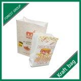 Recycleer de Witte Zak van het Document van Kraftpapier voor Voedsel
