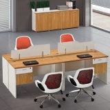Poste de travail droit de personnel de boîtier de partition de bureau de bureau de 4 portées (HX-NCD061)