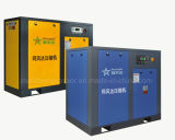 100HP (75KW) dirigem o compressor conduzido do parafuso do inversor refrigerar de ar