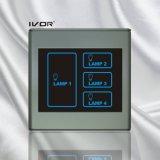 Bâti en plastique de commutateur de mur de commutateur de contact léger de 4 troupes (SK-T2300L4)