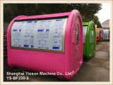 Ys-Bf230-3 Painel galvanizado Hotdog Cart Restaurante móvel à venda