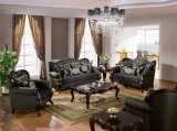 ホーム家具のための木フレームが付いている古典的なファブリックソファーの骨董品愛シートの椅子