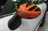 De oranje Dekking van de Spiegel van de Vervanging van Union Jack Zij voor Mini Cooper