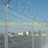 Anti Climb Security Airport Fence with Razor Barbed Wire Top