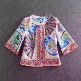 Пальто 2017 способа женщин весны шерстей печатание вентиляторов нового корейского китайское
