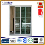 Aluminium gestaltetes ausgeglichenes Sicherheitsglas-schiebendes Fenster mit Bildschirm
