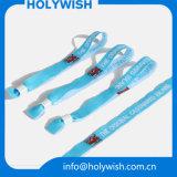Wristbands de la tela de la manera del Wristband de la entrada con el encierro del metal