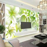 Große Wohnzimmer-Sofa-Hintergrund-Blumen-Tapete kundenspezifisch anfertigen