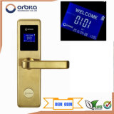Orbita Hot Selling Golden Smart Electronic RF Keyless Card Hotel Door Lock E4131
