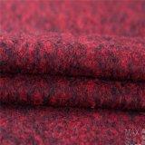Tessuto del fiore composto, delle lane e del poliestere in rosso scuro