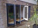 Дверь Bifolding Tempered стекла качества Woodwin конечно двойная алюминиевая