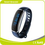 Pulsera androide elegante de Bluetooth del monitor de la presión arterial y del ritmo cardíaco