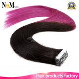 編む毛のブラジルの人間の毛髪の拡張皮Weftテープ