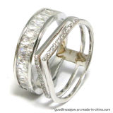불규칙한 형태 AAA CZ (R10600)를 가진 형식 925 은 반지
