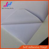 Vinyle auto-adhésif de PVC de colle blanche