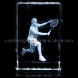 Cubo del tenis del laser del cristal 3D (ND7032)