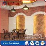 耐久性の耐久の赤い錆ついたスレートの壁のタイル
