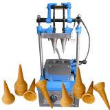 Fácil funcionar el fabricante del cono de la galleta de 4 moldes para la venta