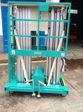 Het hydraulische Dubbele Platform van het Werk van de Mast Lucht (Maximum Hoogte 9m)