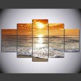 HD imprimió la lona Ym-007 del cuadro del cartel de la impresión de la decoración del taller de impresión de la lona de pintura del grupo del paisaje marino