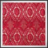Tela floral do laço do bordado da guipura para o vestido