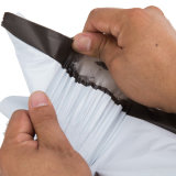 Bolso plástico del anuncio publicitario del sobre blanco de encargo del mensajero