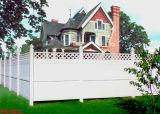 Haut de la vie privée en PVC avec haut de la clôture en treillis