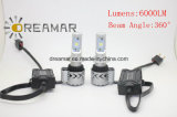 차를 위한 H4 6000lumens 40W 6500k LED 헤드라이트