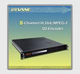 DMB-9820 Best Sellingの8チャンネルEncoder/Asi +8*Cvbs/Sdi InputのDIGITAL MPEG2/H. 264の8チャンネルEncoder