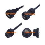 Connecteur USB étanche (IP67, mâle, femelle, moulé/d'assemblage de câble)
