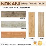 150x600mm madera antideslizante azulejo de porcelana de mirar al suelo de azulejos rústicos