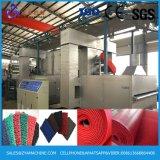 빨간 혼합 검정 두 배 색깔 PVC 코일 매트 생산 라인