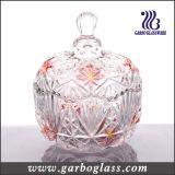 Tarro de cristal grabado del caramelo del color decorativo del aerosol
