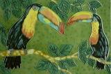 20X30cm Hand Painted Art Ceramic Painting