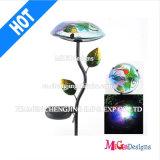Impression de lumière métallique Stake LED Solar Garden Light