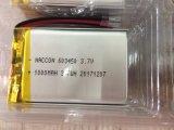 PCM를 가진 리튬 중합체 건전지 603450 3.7V 1000mAh 재충전 전지